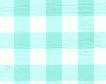 """Mint Gingham Check Fabric (1"""" check) 20 Yards By The Bolt"""