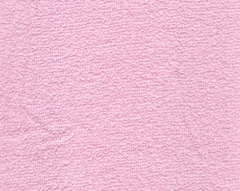 "44-45"" Pink (9 oz) Terry Cloth Fabric-15 Yards Wholesale By The Bolt"