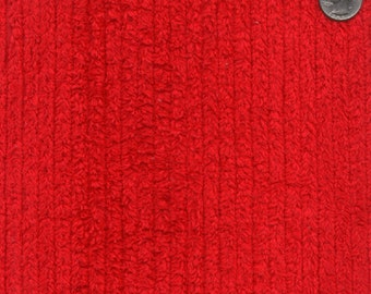 "56"" 10oz Red Cotton Chenille Fabric-13 Yards Wholesale By The Bolt"