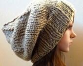 Slouchy beanie hat - LIGHT KHAKI - womens teen girls - accessories