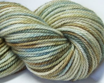 Kettle Dyed Aran Weight BFL Yarn, 180 yrds, 100g, Bluefaced Leicester