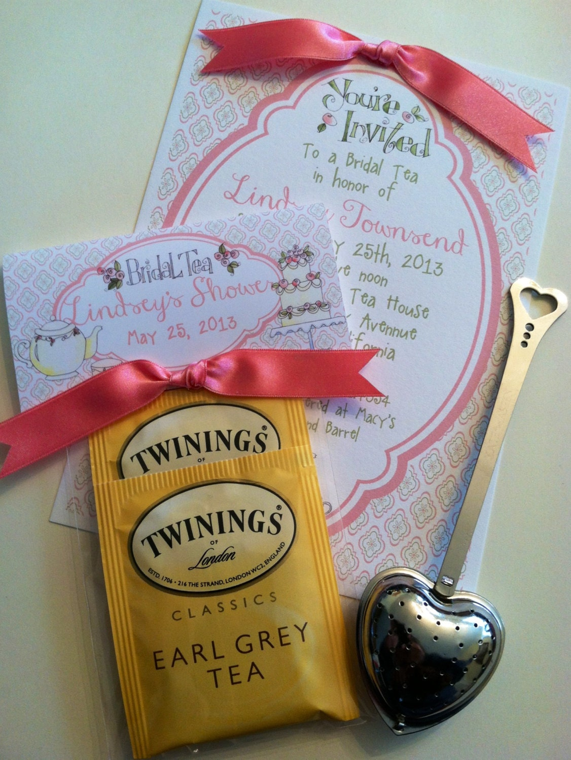 bridal tea bag topper favors with tea zoom