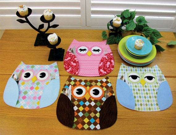 Atkinson Designs Stand N Stow : Owl place mats pattern who s placeby susie c shore
