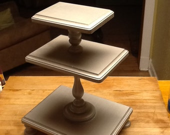 3 Tiered Cupcake Stand - Nickel