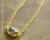 Labradorite Gemstone Pendant Necklace