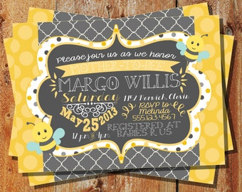 Mother-to-Bee Baby Shower Invitation