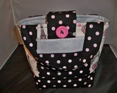 Girls Scripture Bag or Tote Paris Theme Eiffel Tower Glittery polka dots