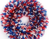 Red White and Blue Wreath - Fourth of July Wreath - July 4th Wreath - Patriotic Wreath - Door Wreath - Summer Wreath - Memorial Day Wreath