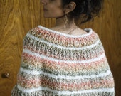 Hand Knit Poncho Knit Ponchette Hand Crochet Sweater Knit Sweater Shrug XSmall/Small