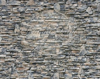 NEW ITEM 7ft x 7ft Vinyl Photography Backdrop / Multi Stone Rock Wall