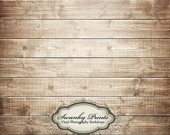 IN STOCK / Fast Shipping / 4ft x 4ft Vinyl Photography Backdrop / Brown Washed Wood