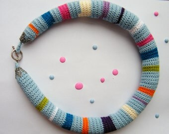 Coloful crochet necklace,uniqe,handmade
