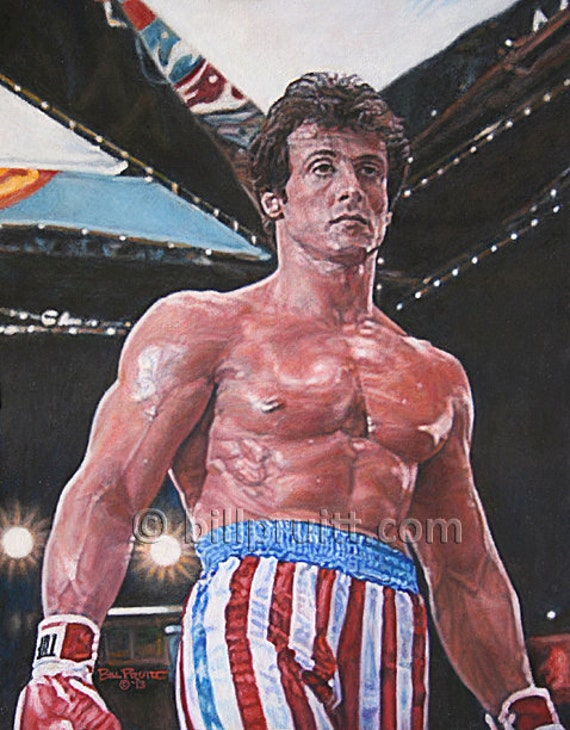 items similar to sylvester stallone rocky balboa rocky 4. Black Bedroom Furniture Sets. Home Design Ideas