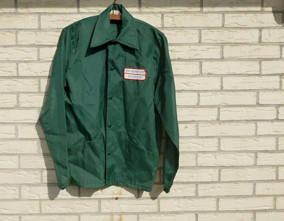 Work Jacket Trucker Green Wind Breaker Medium