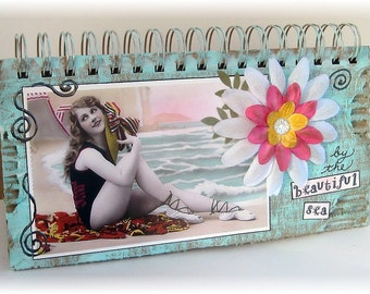 Art Journal, Junk Journal, Smashbook, Photo Album, Summer Vacation, Cruise, Beach