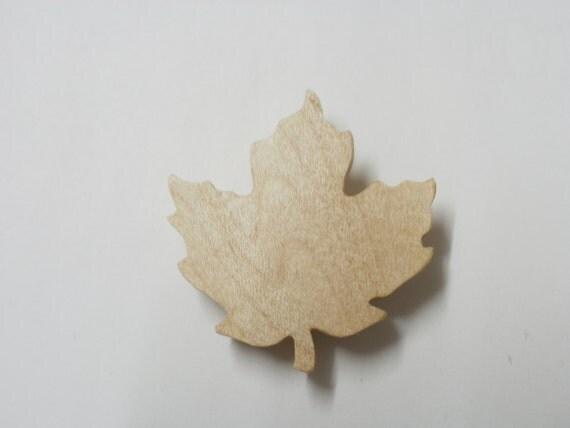 maple leaf brooch wood  maple scroll saw