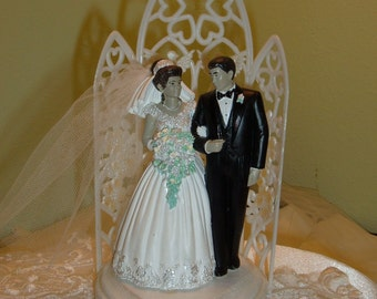 Cake Topper, Ethnic or Hispanic Cake Topper, Bride and Groom,