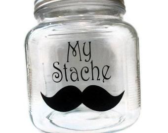 My Stache- Money Jar