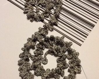 Spiral Handmade Crochet Necklace