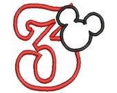 Mickey Mouse Applique Design, Applique Design, Embroidery Design (134) Instant Download