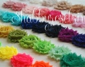 5 Yards Chiffon Flower Shabby Rose Trim - You choose the colors