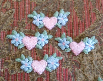 Heart and Flower Appliques
