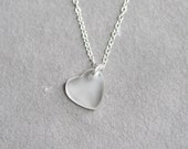 Heart of Glass Necklace on Sterling SIlver - Small