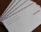 Set of 5 Vintage Airmail Envelopes (American Flag)