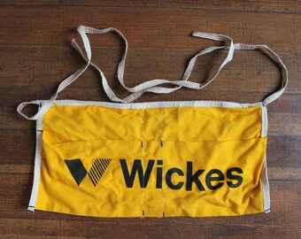 Vintage Apron / Tool Belt / Nail Belt (Yellow - Wickes Lumber)