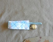 Soothie Fabric Pacifier Clip In Argyle Fabric READY TO SHIP!!