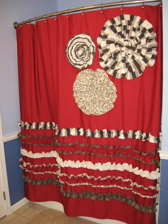 Shower Curtain Custom Made Designer Fabric by CountryRuffles