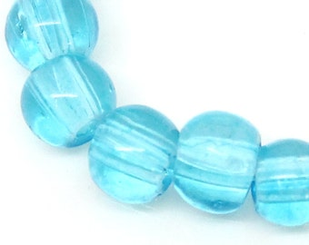 220 Faceted Beads - Crystal - Glass - Light Blue AB Color Faceted 4mm 1 Strand -  Ships IMMEDIATELY  from California - B634