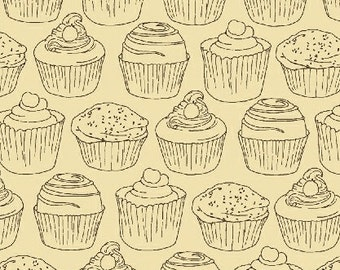 SALE - Windham Fabrics - Love at First Bite - Cupcakes on Cream