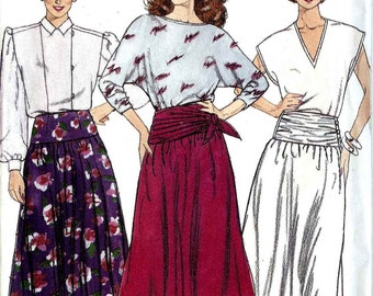 Pattern Butterick 3542 Flared skirt contour waist with ruching Size 16