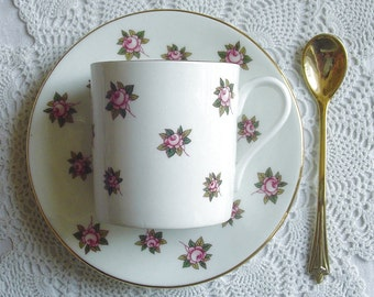 HATHAWAY - 13698 - Demitasse, Demi-Cup & Saucer - Tea Party - Aynsley China - Longton, Stoke-on-Trent, Staffordshire, England