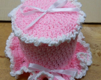Crochet toilet tissue cover pattern-PDF Pattern- make this vinatage look cozy to match your bathroom or to decorate for any holiday