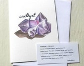 Alternative Gemstone Birthday Card - Amethyst/February