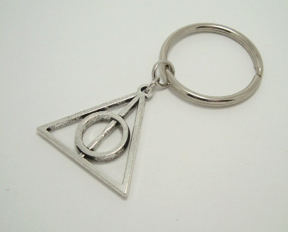 Harry Potter Book Keychain ~ Items similar to harry potter deathly hallows charm