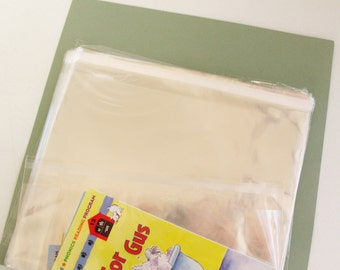 25- 8 x 10 Resealable Clear Cello Bags