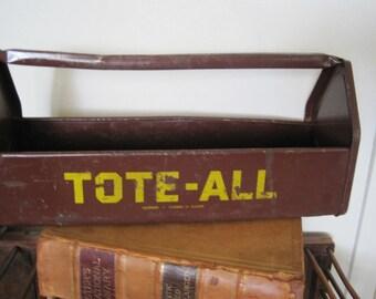 Vintage Industrial Tote - All Tool Box / Caddy / Organizer