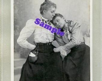 Instant Digital Download-Tender Moment-Vintage Studio Portrait