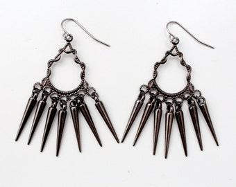 spike tassel chandelier earrings // FLAIL