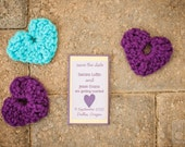 Heart Accents, Wedding Favors, Pocket Hearts - Made to Order, Custom, Color Choice - US Shipping Included
