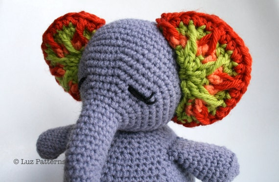 Amigurumi Patterns Elephant : Free crochet pattern for elephant book markers search in google