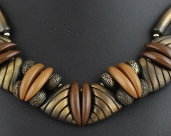Statement Necklace In Natural Shades