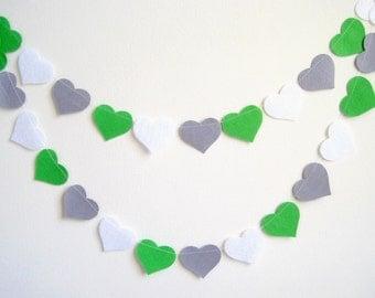 Green grey nursery decor, spring wedding banner, gray green white baby shower decor, birthday party decoration, Photo prop