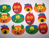 Fondant Toppers - Monsters