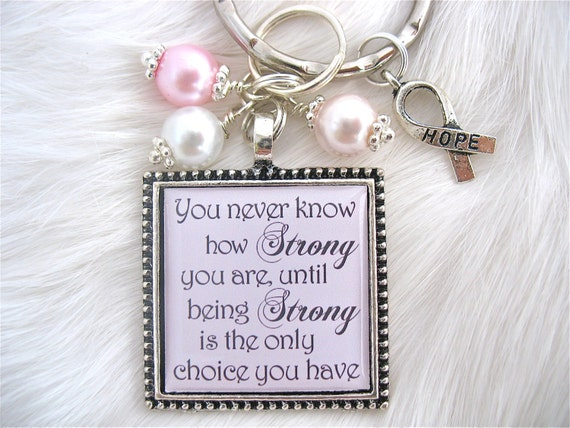 items similar to bravery inspirational quote pink ribbon