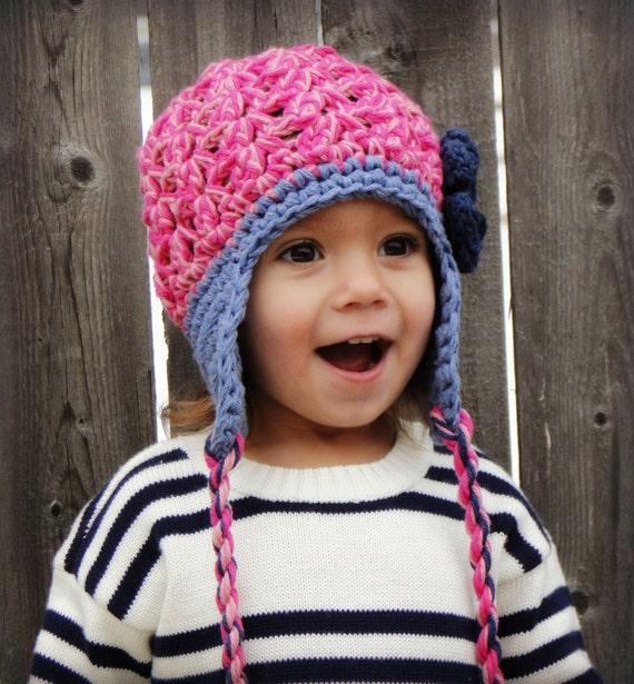 Amigurumi Earflap Hat : Crochet Hat for Girls earflap hat baby hat kids hat