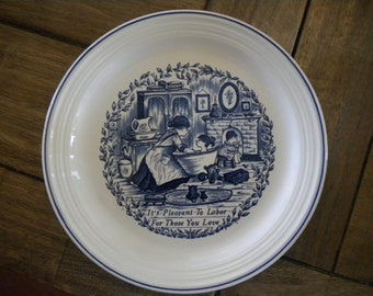 Royal Crownford Staffordshire Plate Norma Sterman // It's Pleasant To Labor For Those You Love